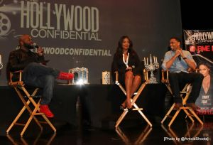 "The Cast of The ""Perfect Guy"" Starring Sanaa Lathan & Michael Ealy Speak at The Hollywood Confidential 4th Panel Series on Saturday, August 29, 2015 at Montalban Theatre in Hollywood, California (Photo by @ArnoldShoots)"